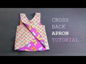 DIY - Cross Back Apron For Kid - Áo chéo vai cho bé - YouTube