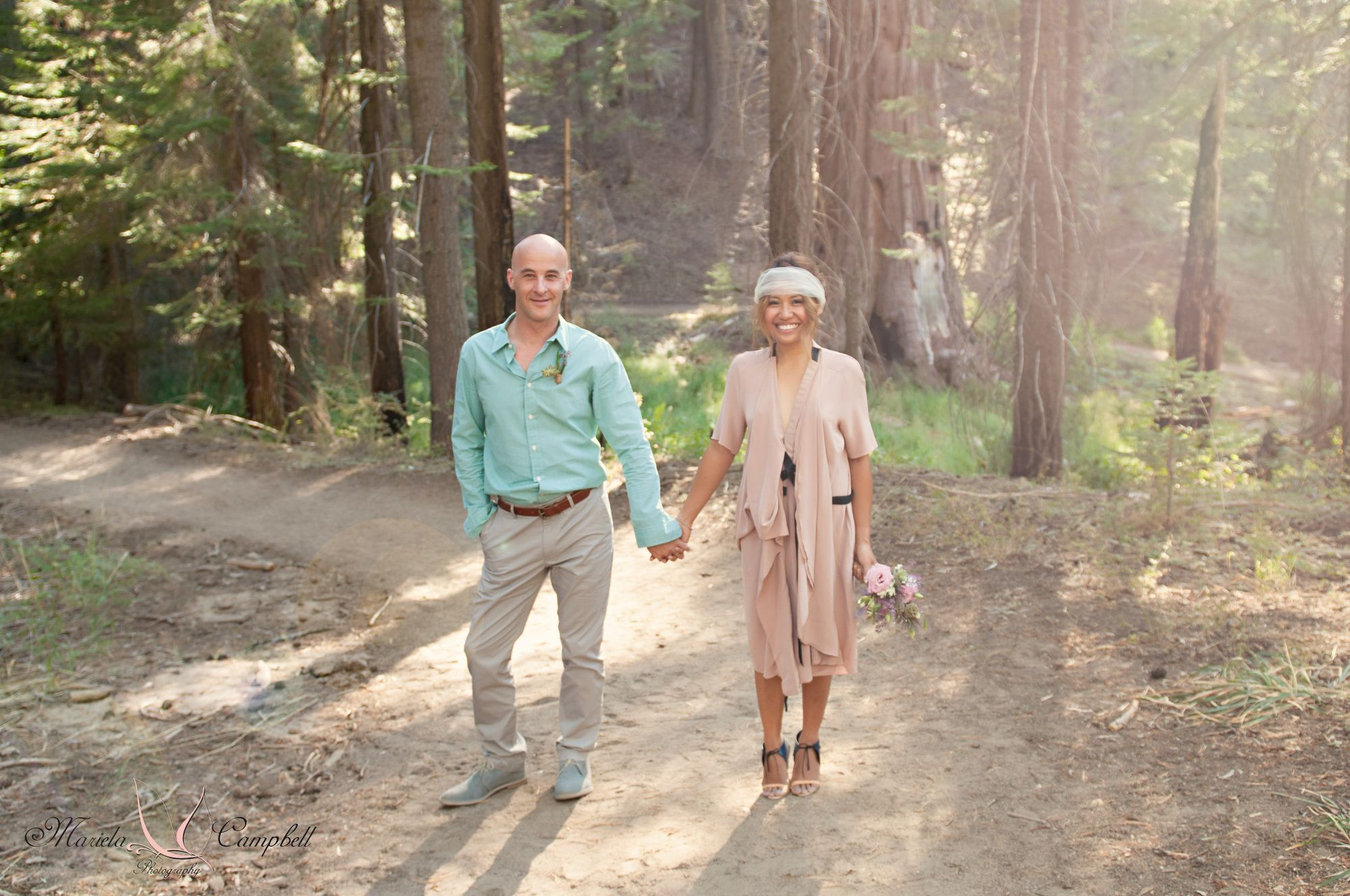 Back to nature rustic diy wedding in badger u kingus canyon