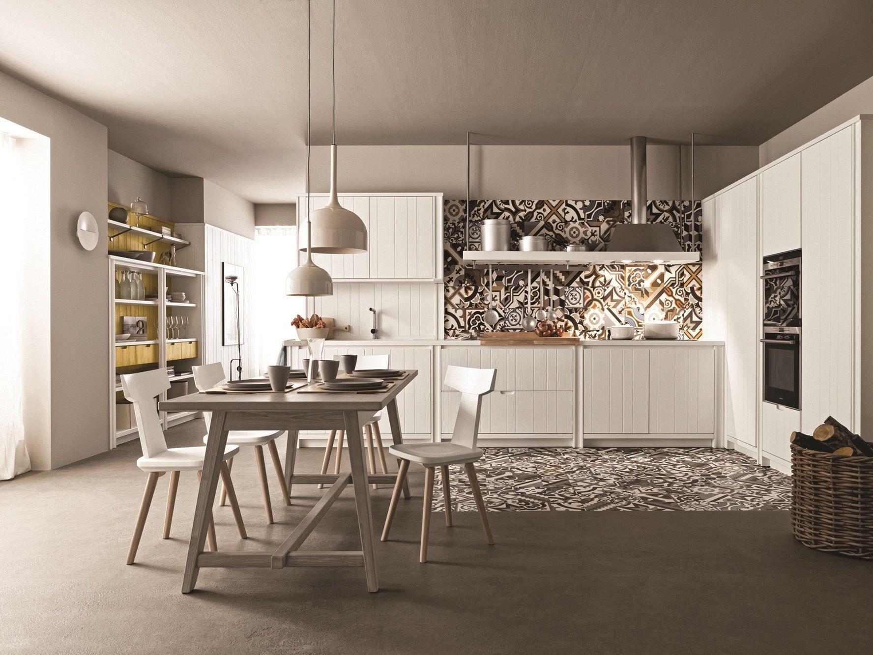 Tavolo Scandola ~ Linear spruce kitchen maestrale by scandola mobili