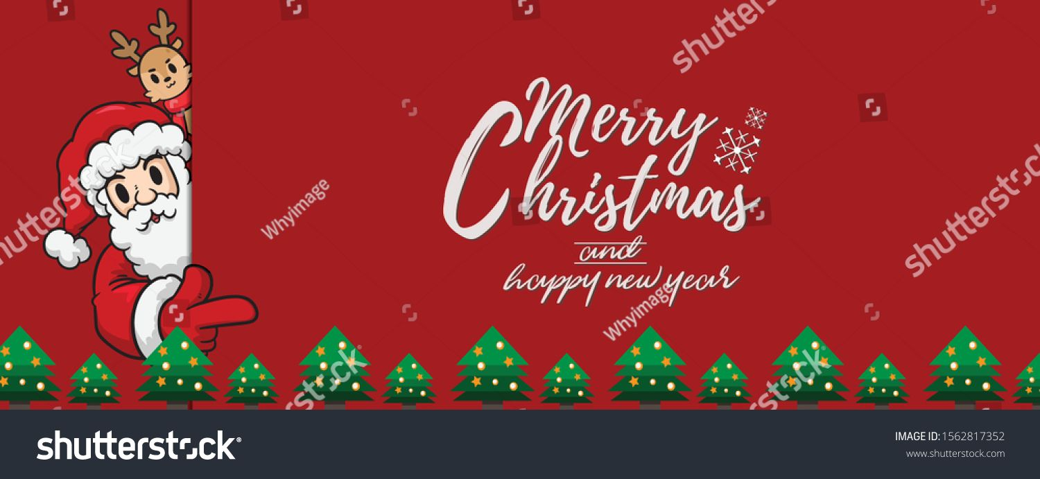 Merry Christmas Vector Text Calligraphic Lettering Design Card Template For Website Santa Cla Merry Christmas Vector Christmas Vectors Holiday Greeting Cards