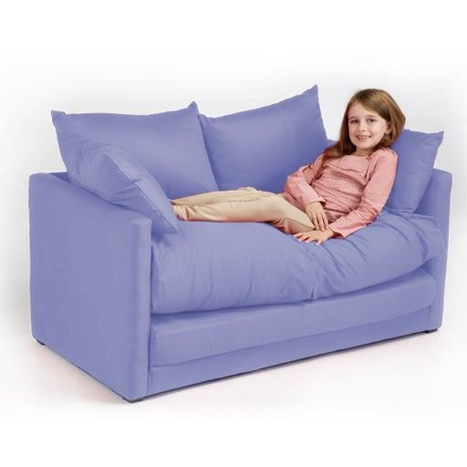 Children S Sofa Bed Lilac Childrens