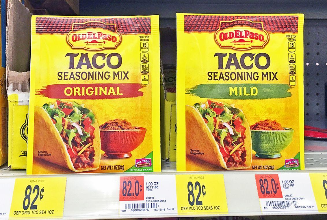 Old El Paso Seasoning Only 0 49 At Walmart Taco Mix Seasoning Old El Paso Seasonings