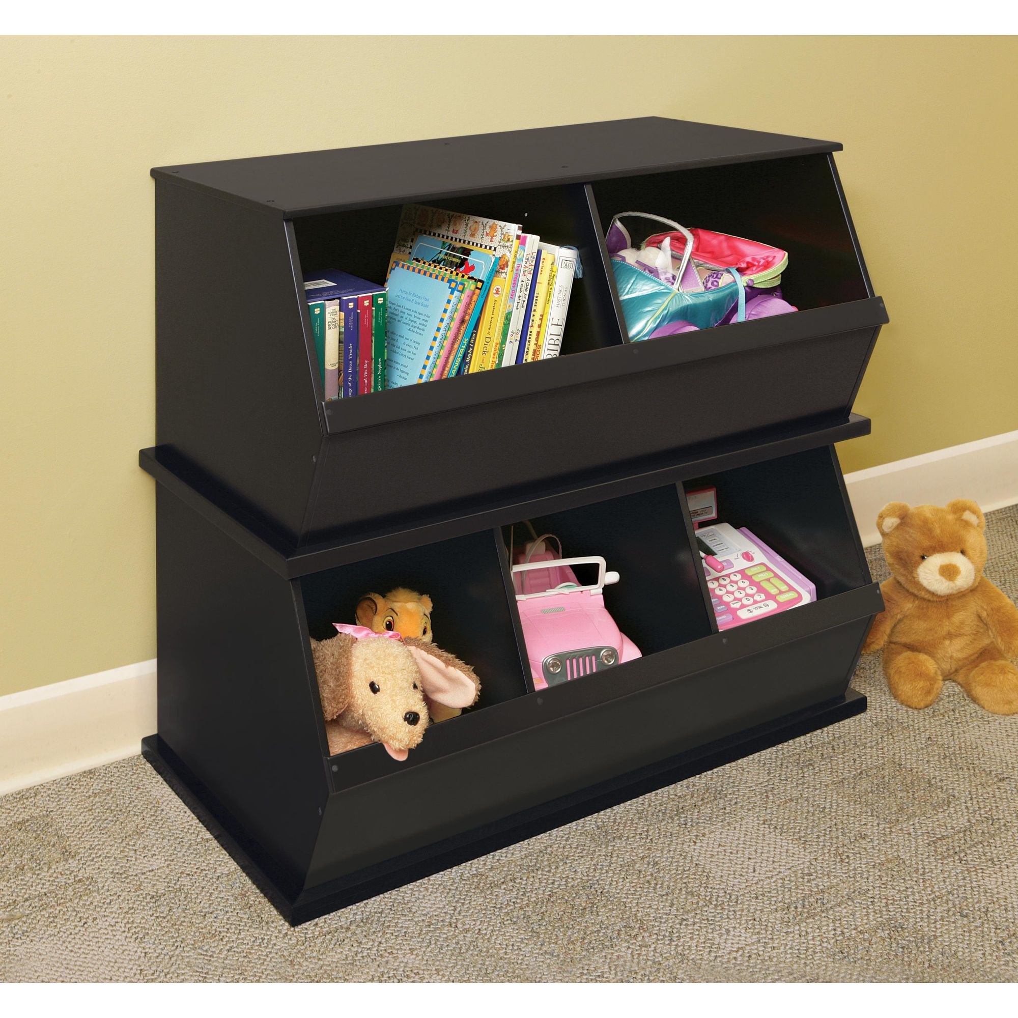 Toy Storage Cubby Storage Childrens Storage Furniture Stackable Storage