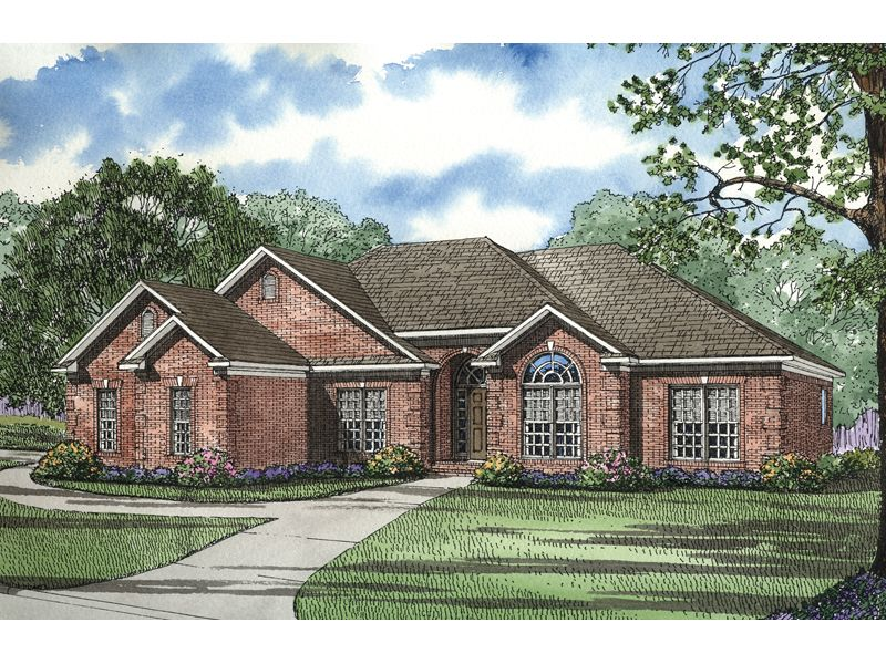 Fernleaf ranch home all brick ranch house with multiple for Brick traditional homes