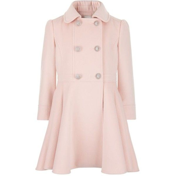 Monsoon Pink 'Asha' coat ($61) ❤ liked on Polyvore featuring ...