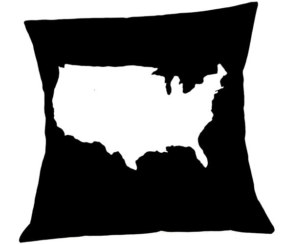 US maplique pillow cover