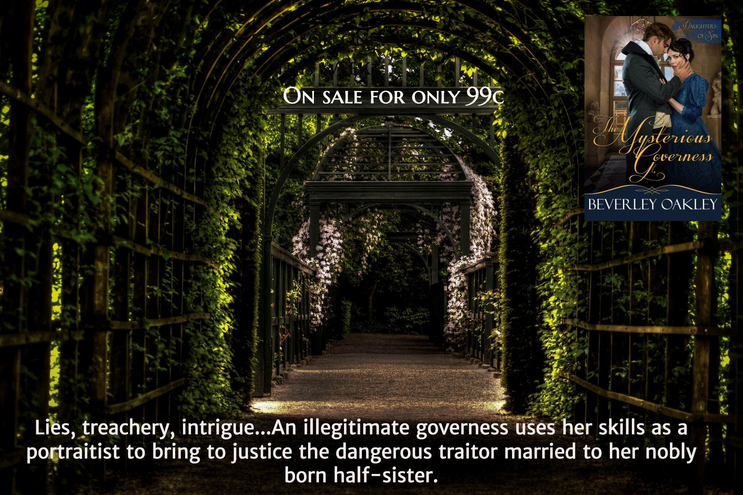 Lies, treachery, intrigue...An illegitimate governess uses her skills as a portraitist to bring to justice the dangerous traitor married to her nobly born half-sister. / On sale for only 99c this week / On sale for only 99c