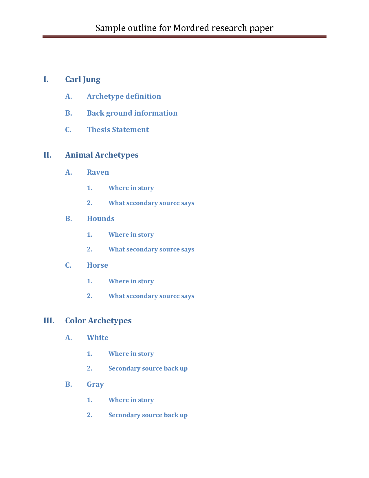 Term paper outline help