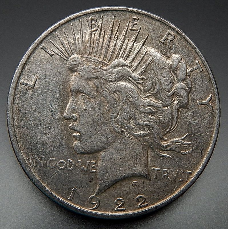 1922 Us Mint Collectible One Silver Peace Dollar Gold