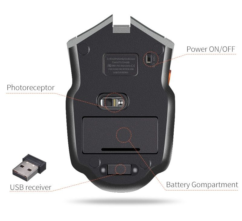 Mouse & Keyboards Hot 2400 Dpi Led 6 Button Key Optical Usb Wired Mouse For Game Laptop Computer Mice