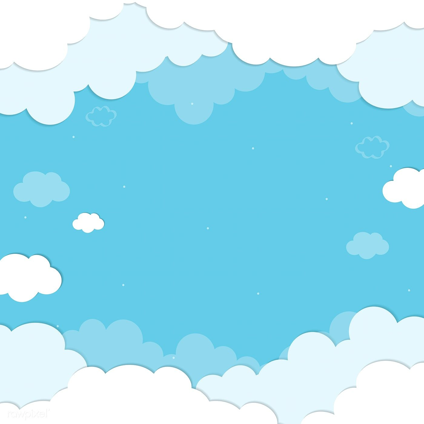 Blue Sky With Clouds Patterned Background Vector Free Image By Rawpixel Com Chayanit Background Patterns Vector Background Pattern Clouds Pattern