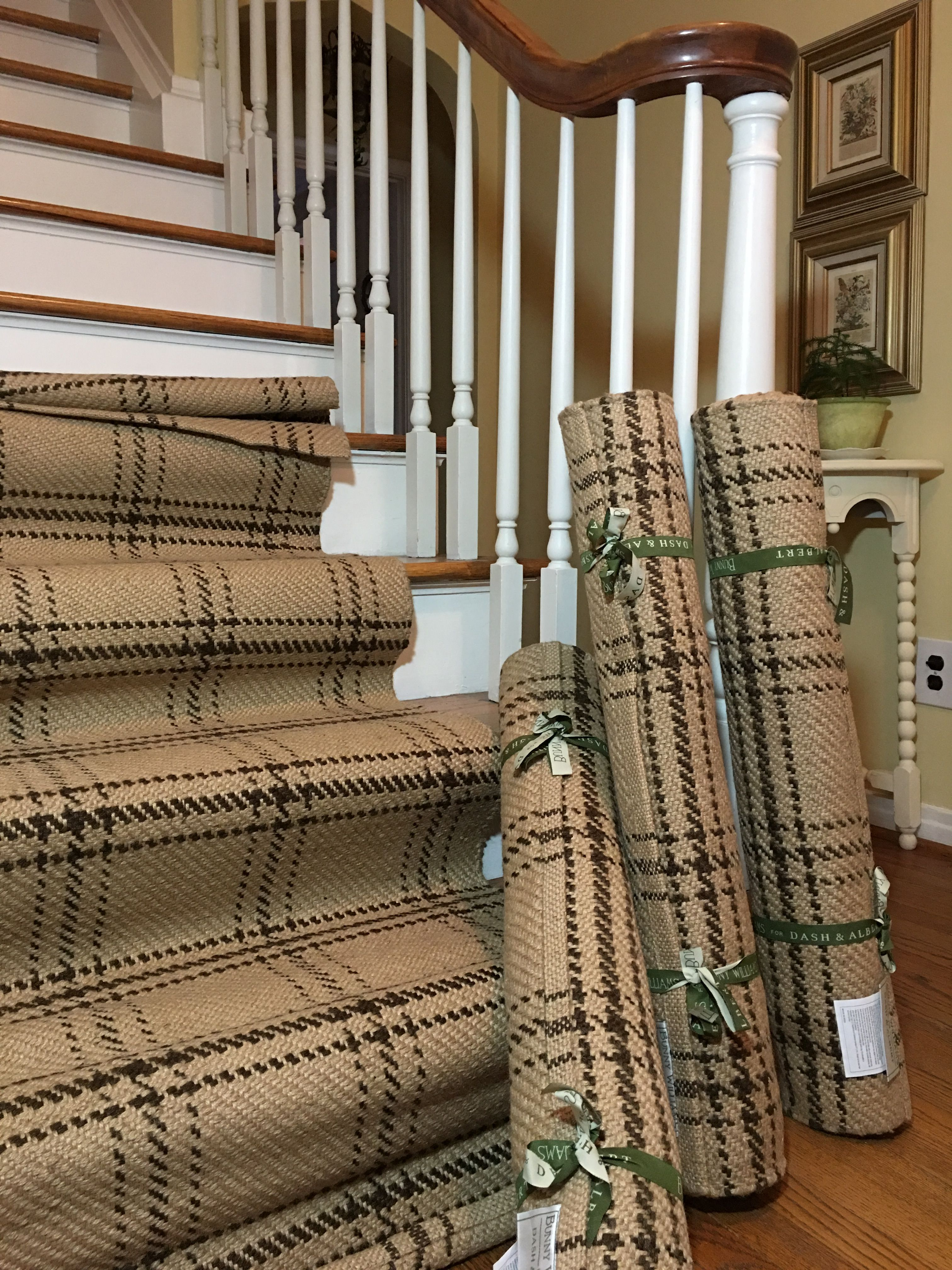 Stairs Rug Runners Dash And Albert Plaid Jute Stair Runner By Bunny Williams For