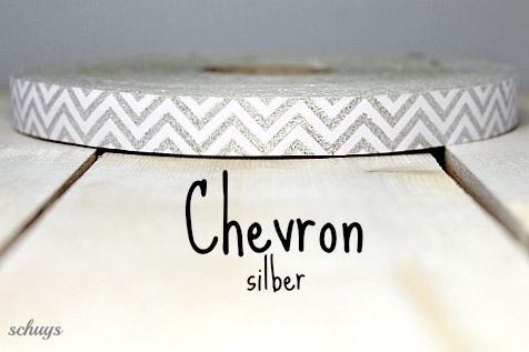 NEU** WEBBAND Chevron silber **NEU von schuys auf DaWanda.com