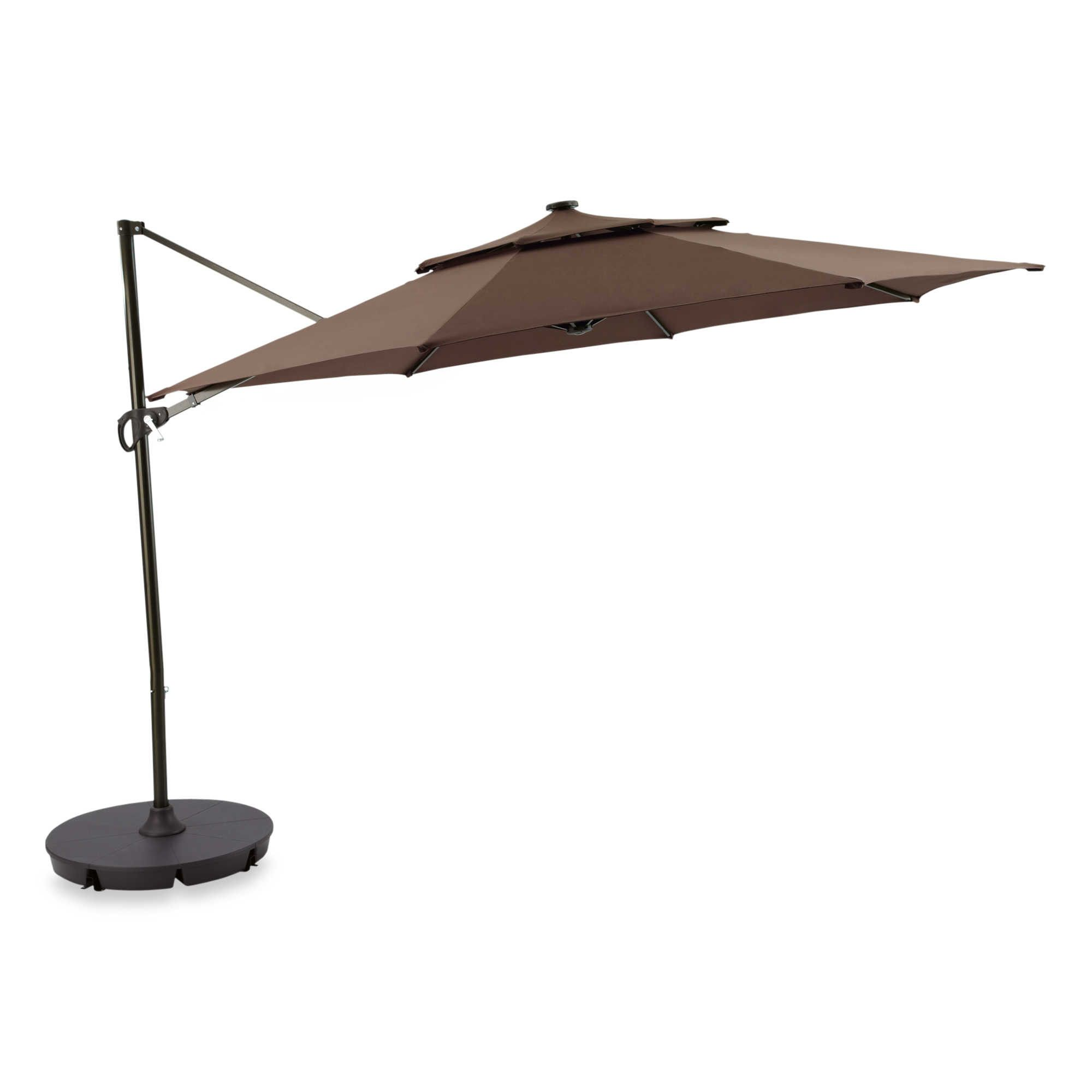 11 Ft 24 LED Lights Umbrella Base Patio Garden Pool Sunshade