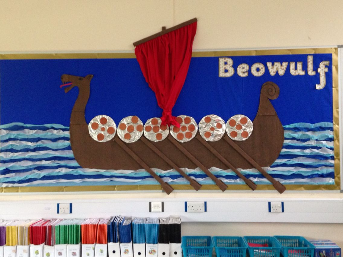 there are project packs included in this zip file folder a viking ship display to go beowulf topic