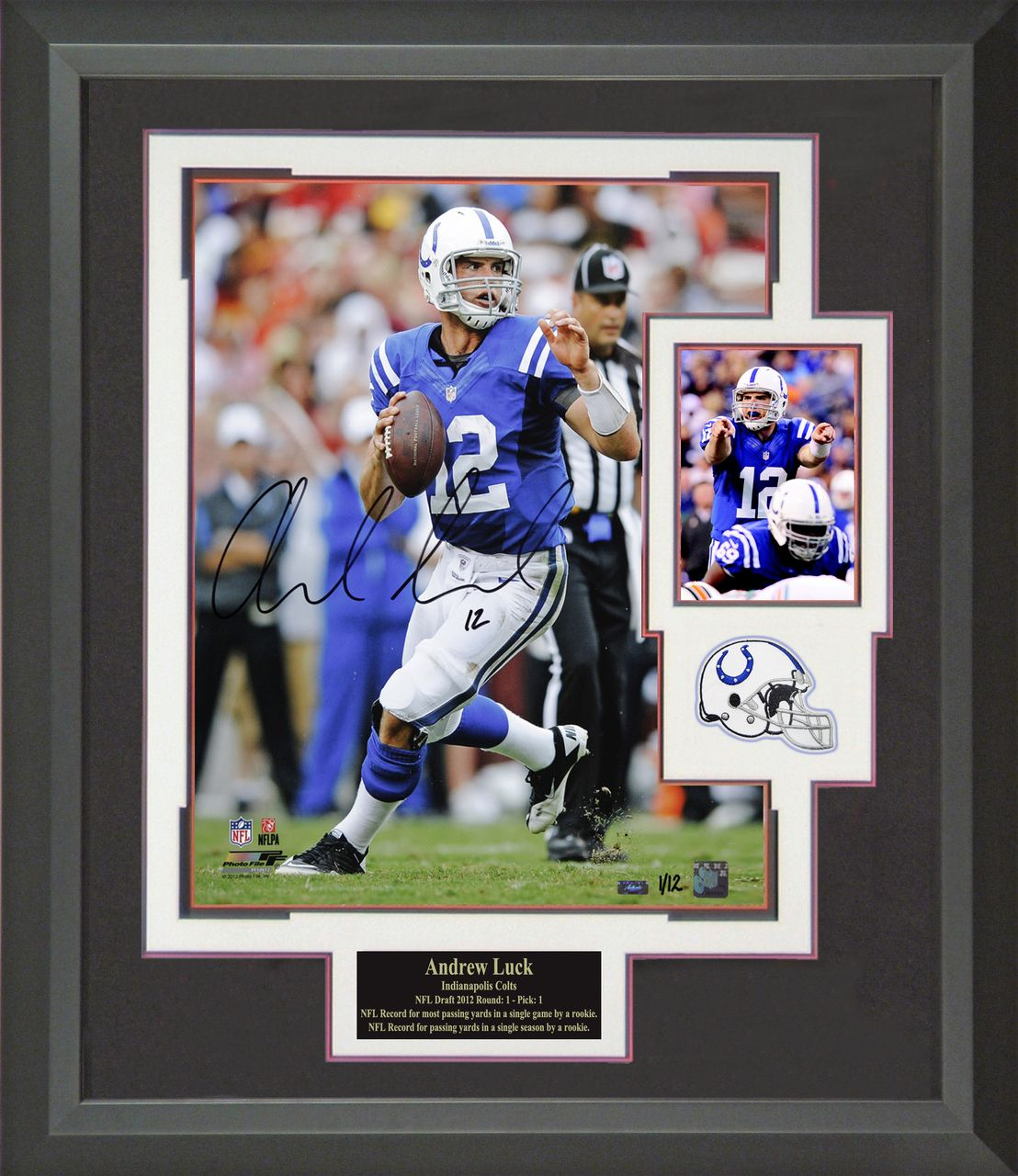 the latest 267f9 aabf4 Andrew Luck Autographed Indianapolis Colts Framed Photo ...