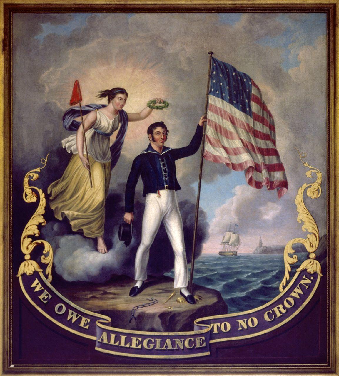 Owe Allegiance Crown Americana Print & Type