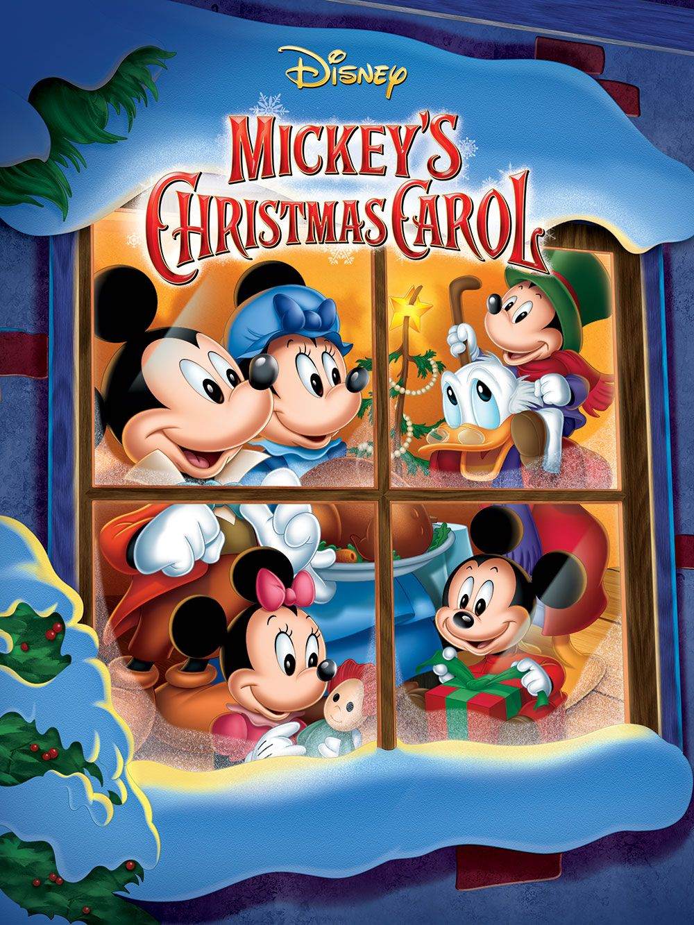 Mickey S Christmas Carol Produced By Walt Disney Mickey Mouse Donald Duck And Many More Of Mickeys Christmas Carol Mickey Christmas Disney Christmas Movies