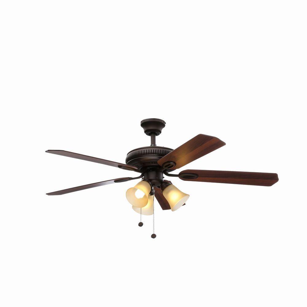 Hampton Bay Glendale 52 In. Oil-Rubbed Bronze Ceiling Fan