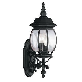 Livex Lighting Frontenac 23 In H Black Outdoor Wall Light Lowes