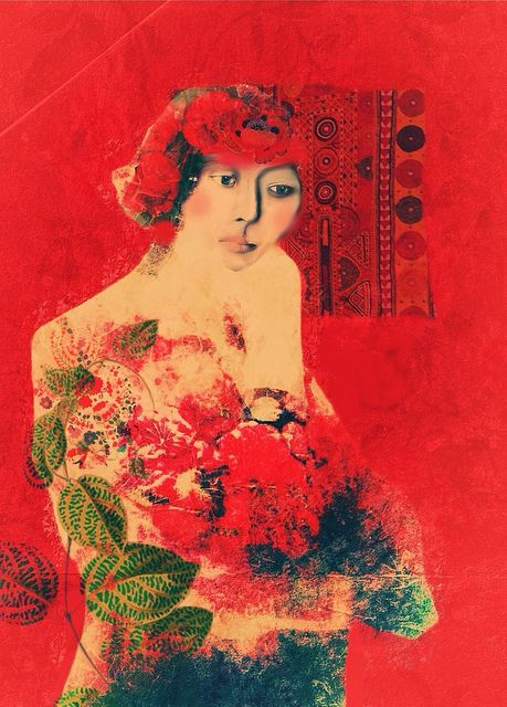 "Sarah Jarrett, ""Oriental"", Illustration, iPhoneography, 2013"