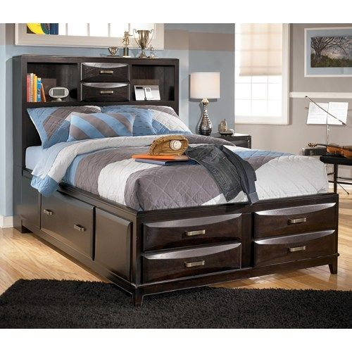 Ashley Furniture Kira Full Storage Bed | Move in Bed | Pinterest ...