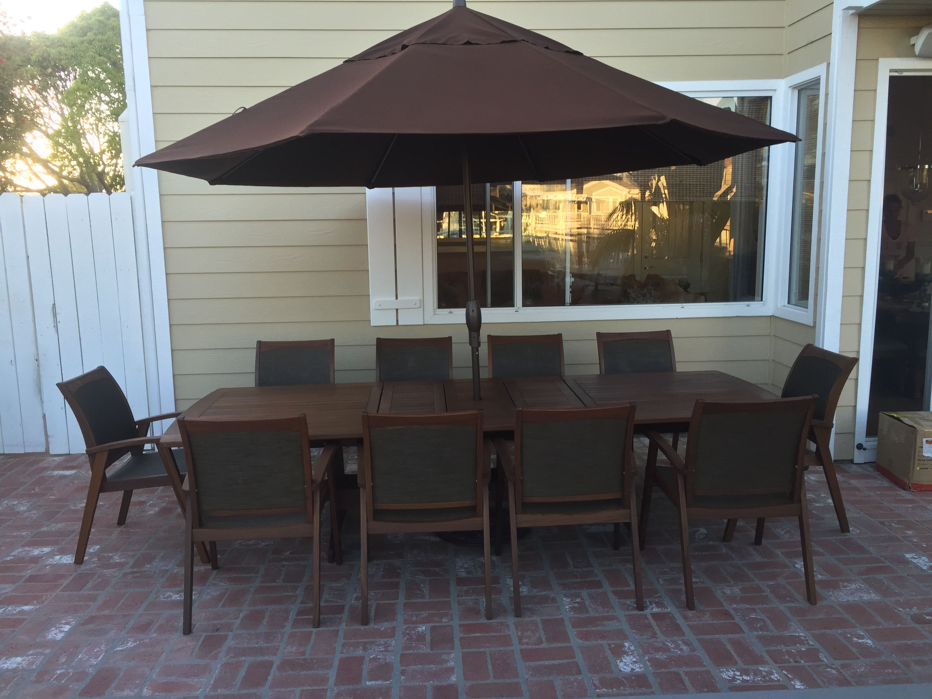 Outdoor Dining Table With 10 Person Seating Outdoorpatio