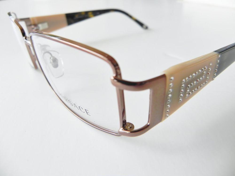 Versace 1163 1163B Eyeglasses BRONZE col.1045 | Versace | Pinterest