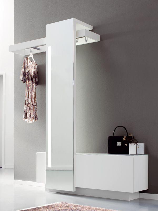 Mobile da ingresso componibile in legno a parete - Appendiabiti da bagno ...