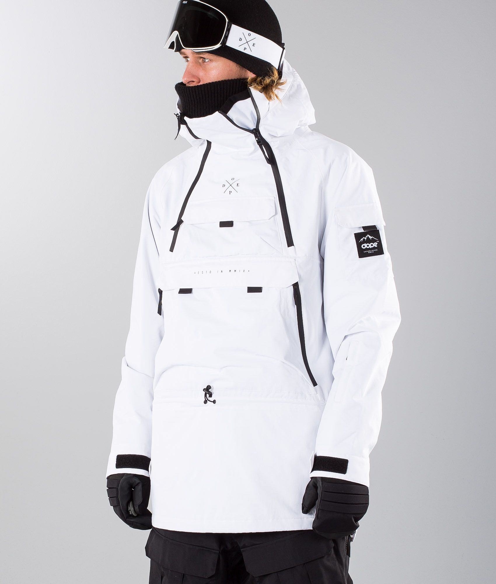 78cc3de0c79b Dope Adept Snowboard Jacket Black White
