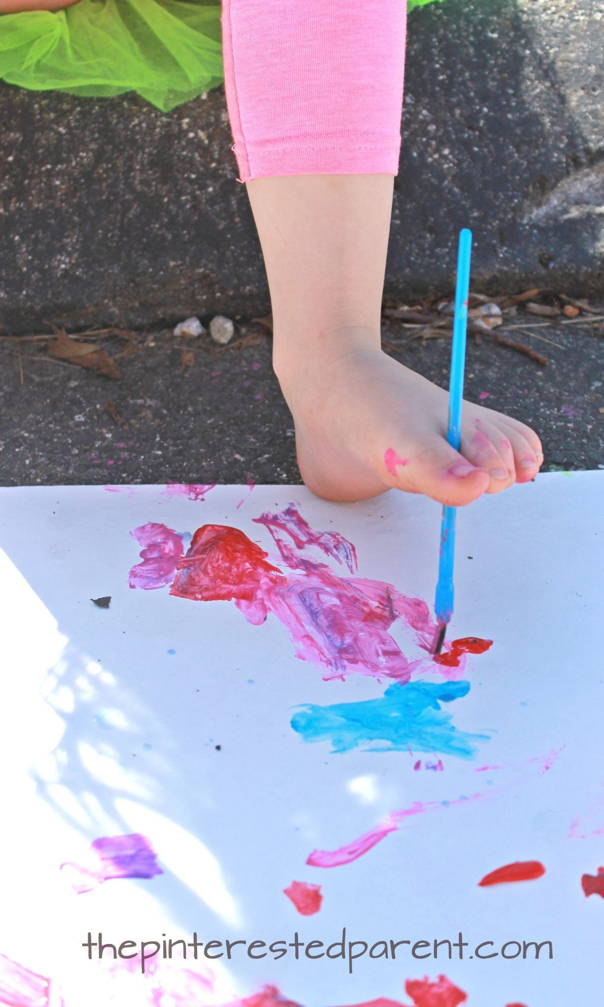 Painting With Your Toes Fun Process Art For Kids