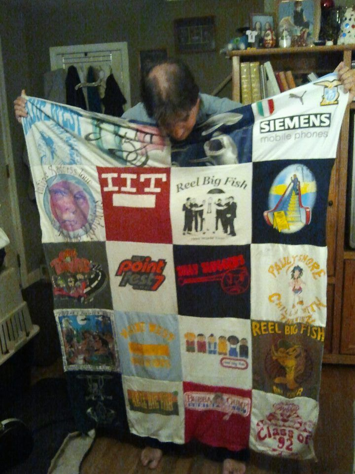 new shirt blanket. mostly old concert t's. Reel Big Fish featured heavily!