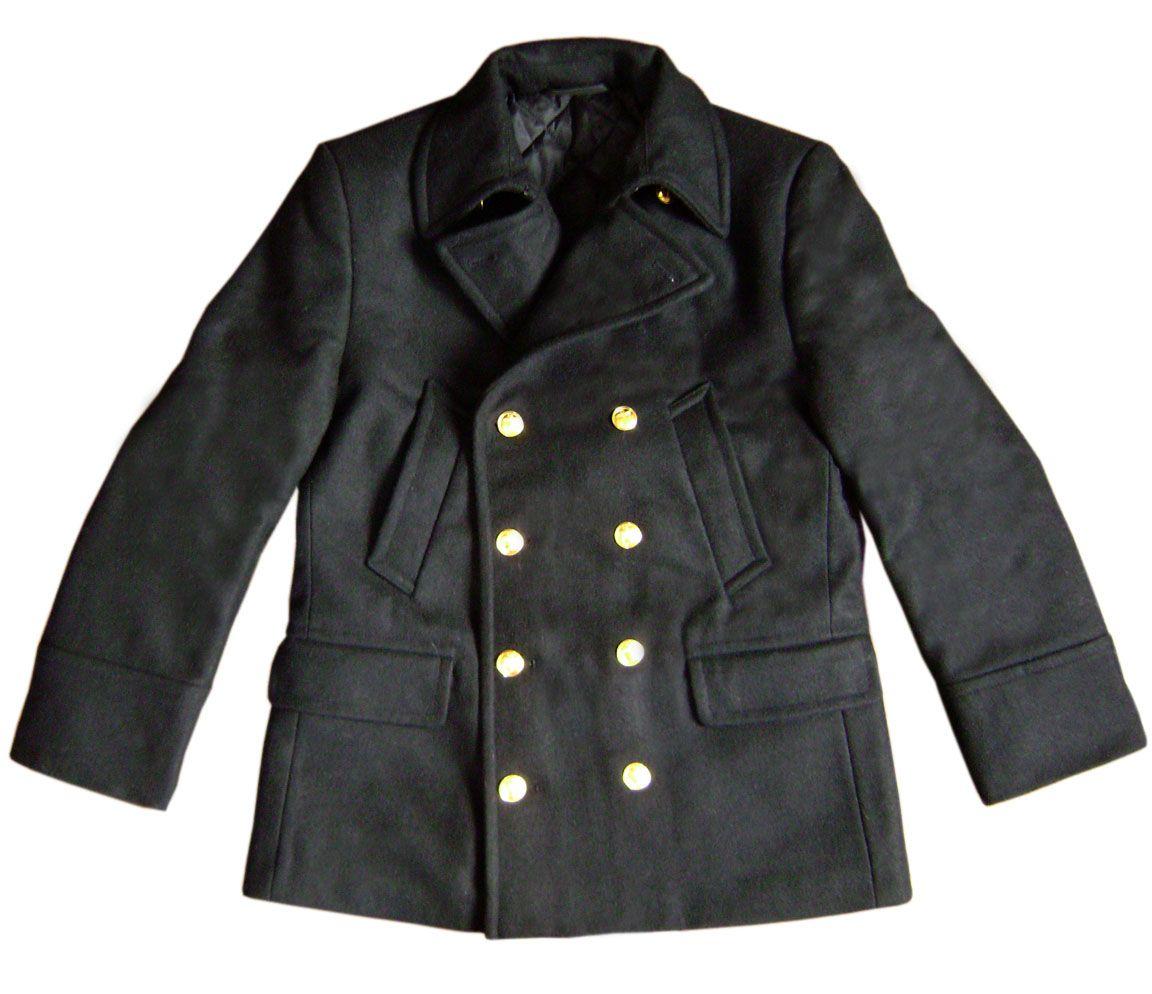 Russian Fleet sailors Navy winter black Pea Jacket  1d11aea3c