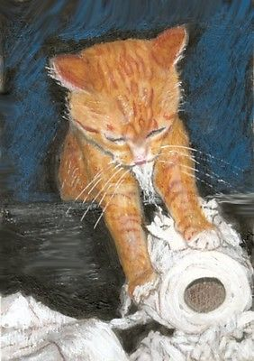 Bcb Orange Tabby Cat Waiting At The Window Print Of Painting Aceo 2 5 X 3 5 Inch Ebay In 2020 Orange Tabby Cats Tabby Cat Orange Tabby