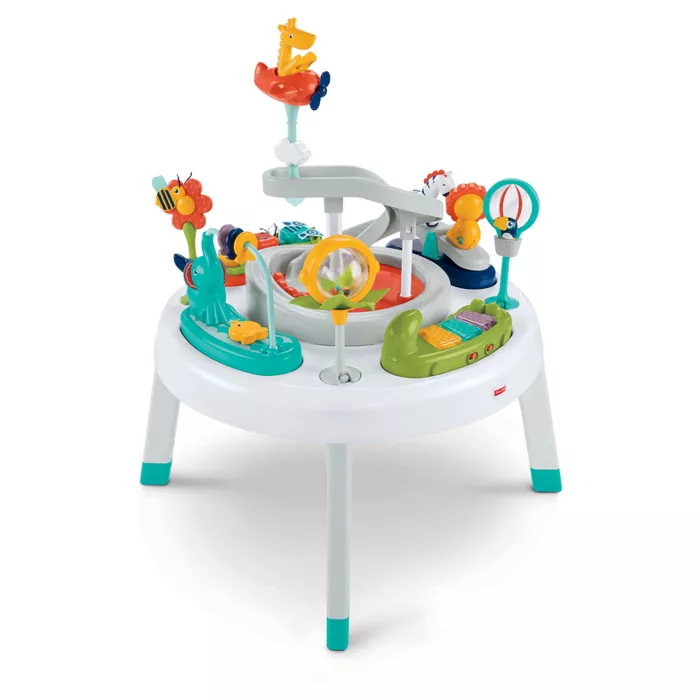 Fisher Price 2 In 1 Sit To Stand Activity Center Safari In 2020 Baby Activity Center Fisher Price Activity Centers