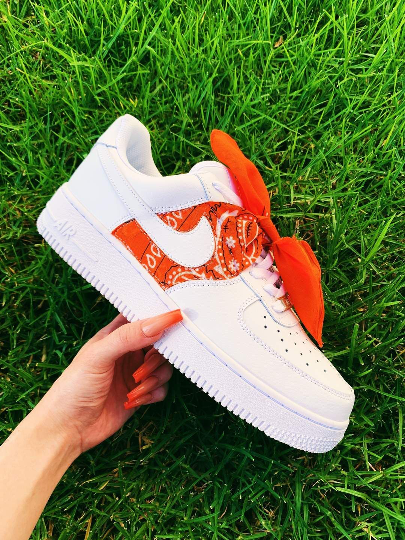 Orange Bandana AF1 (With images) Shoe company, Black