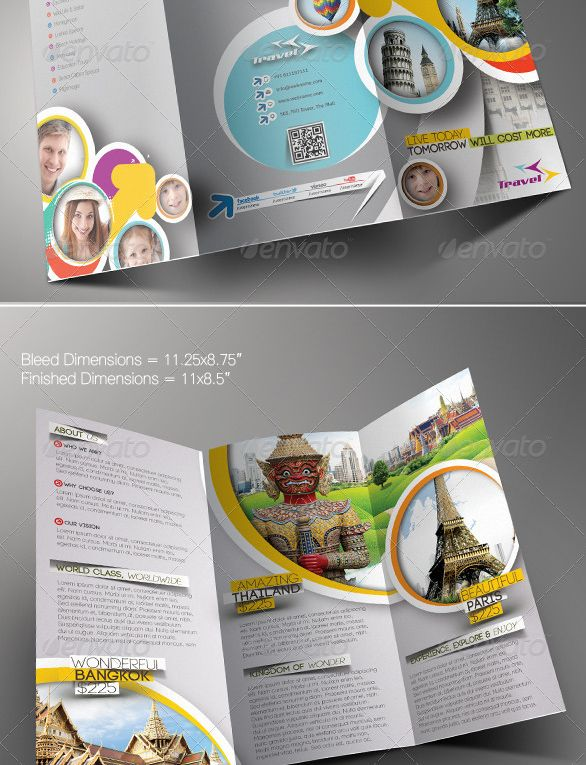 Travel-Agency-Trifold-Brochure-Template | Graphic Design