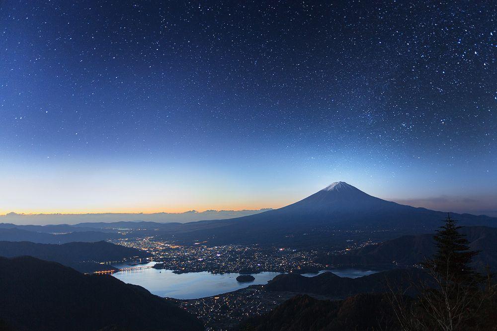 Mt Fuji Starry Night 7420 by Krzysztof Baranowski
