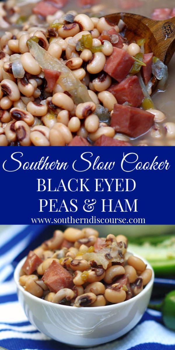 Southern Slow Cooker Black Eyed Peas & Ham