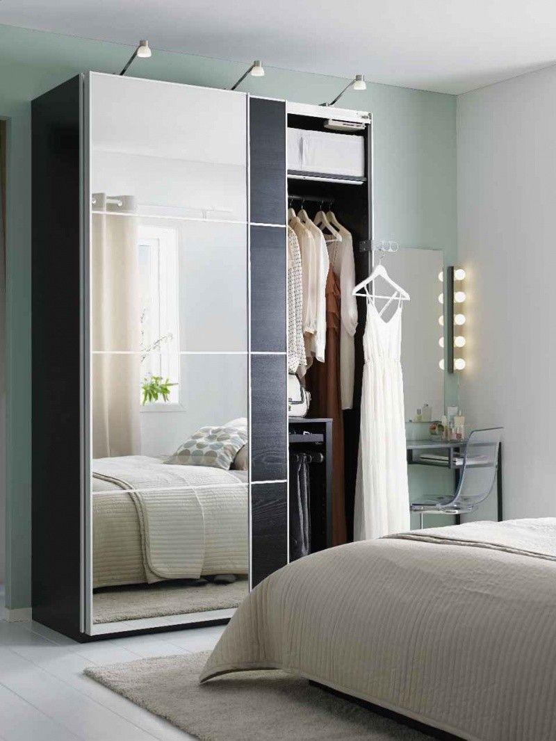 supérieur Armoires · dressing-petite-chambre-porte-miroir-coulissante