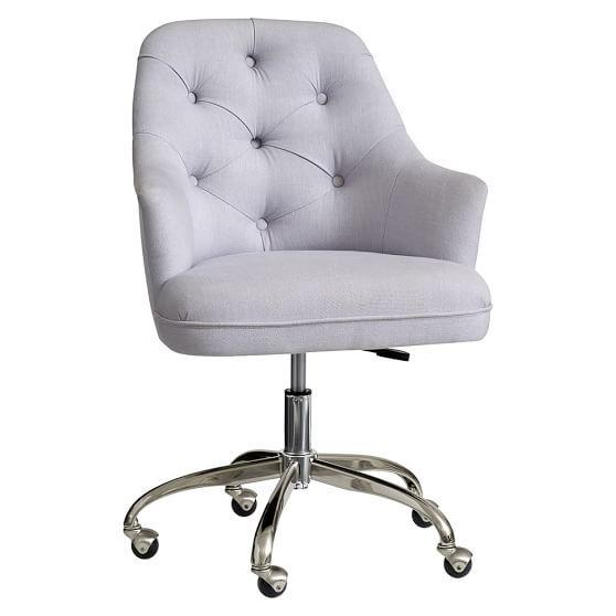 Tufted Desk Chair Light Gray  Home Office  Tufted desk