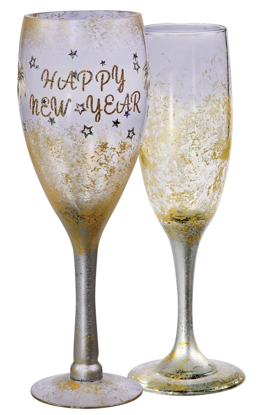 Painted Champagne Flutes Tutorial by @joannstores | New Year\'s Eve ...