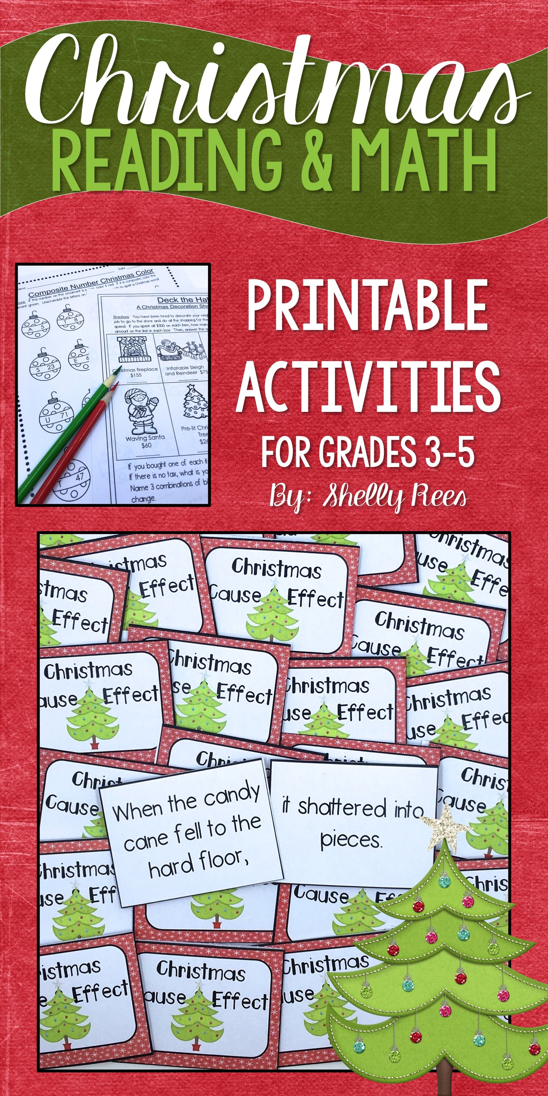 Christmas Math And Christmas Reading Worksheets