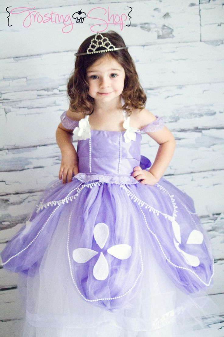 Sofia The First Toddler Bady Girl Princess Tutu Dress Cosplay Party Costume