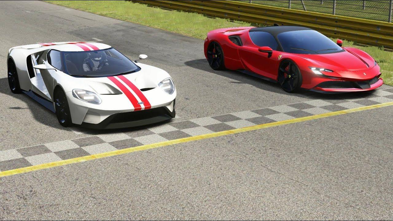 Ford Gt Vs Ferrari Sf90 Stradale At Monza Full Course Em 2020 Com