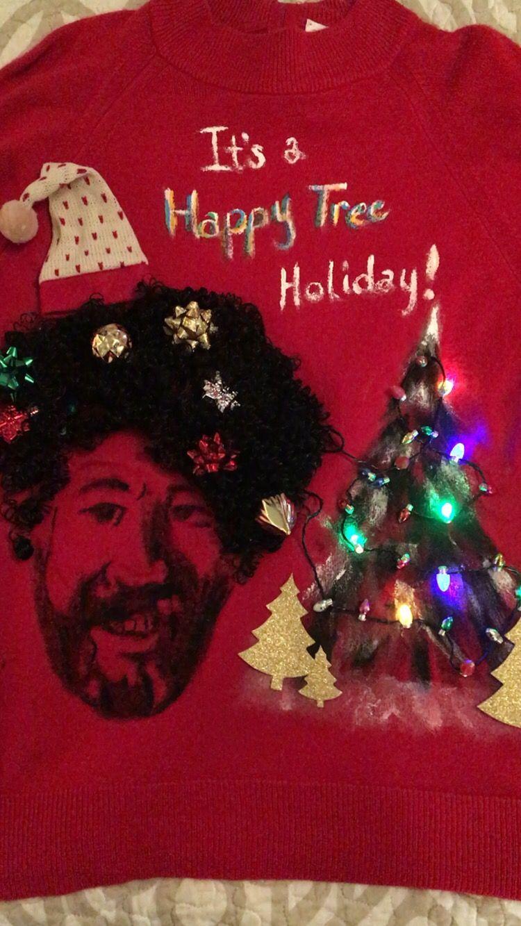 Bob Ross Ugly Christmas Sweater Winter Wonderland Christmas