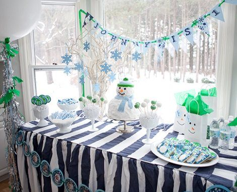ideas para un cumpleaos navideo nevado httpxn manualidadesparacumpleaos - Ideas Para Un Cumpleaos