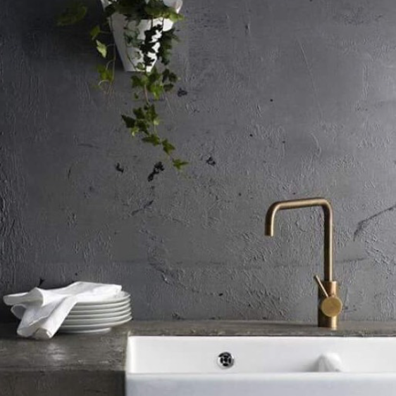 Perfect combo of charcoal, brass and Green via Pinterest ...