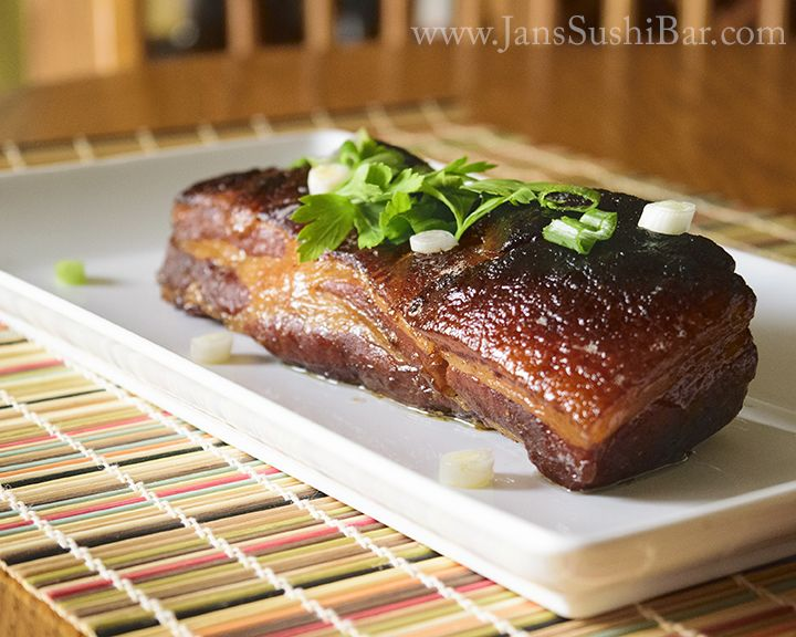 Coffee-Peach Glazed Pork Belly. The sous vide and a ...
