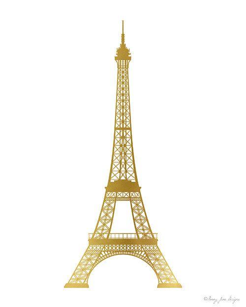 Eiffel Tower Print Gold Paris Home Decor Wall Art In Digital Etsy Eiffel Tower Print Paris Home Decor Eiffel Tower